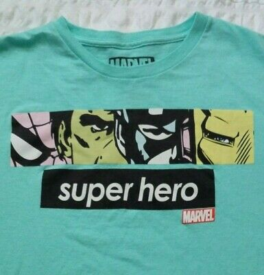 1eb8290fc819 Marvel Super Hero Supreme Style Hulk Iron Man Spider Captain America L T- Shirt