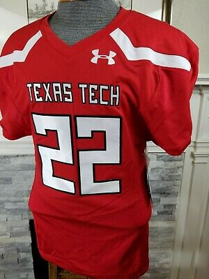 5a15aea9e Authentic 2018 Texas Tech Red Raiders Under Armour Football Jersey Team  Issue