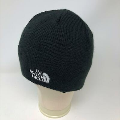 NEW The North Face Black Beanie Hat TNF Logo Adult OS