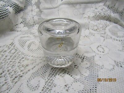Antique Clear thick glass funnel inkwell
