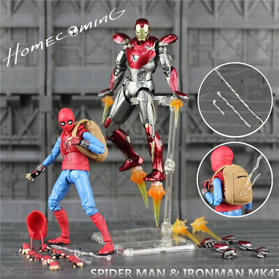 """Spiderman Homecoming 6"""" Action Figure Spider man Holland Avengers Iron MK47 Mark"""