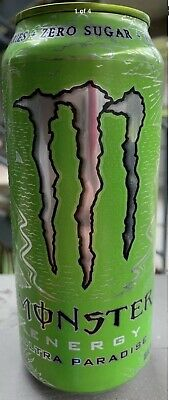 New Monster Energy Ultra Paradise Drink 16 Fl Oz Full Can Zero Sugar & Calories