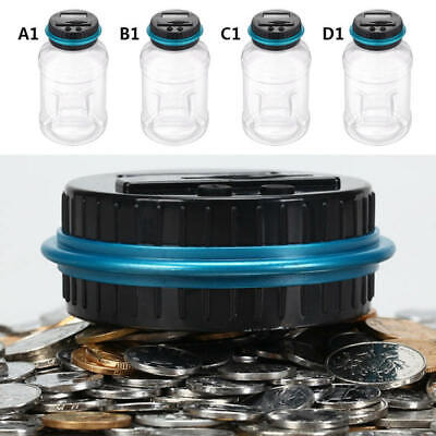 Coin Counter Jar Kids Piggy Bank Currency Money Box Counting Electronic Digital