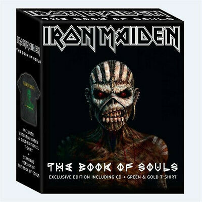 IRON MAIDEN - Book of Souls 2CD + XL T-Shirt RARE Box Set (Sealed Brand New set)