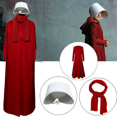 The Handmaid's Tale Offred Red Dress Cloak Cosplay Costume Halloween