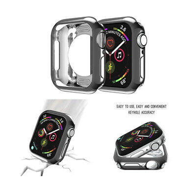 For Apple Watch Series 4 3 2 1 iWatch 38-44mm Soft TPU Plating Bumper Case sm
