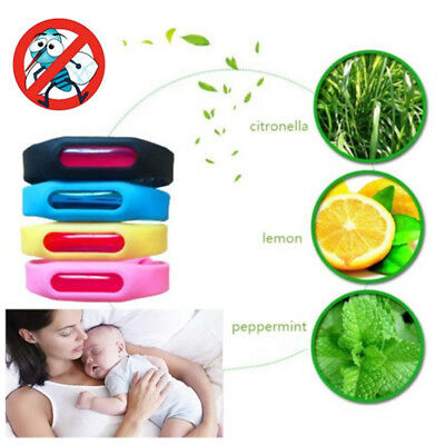 Anti Mosquito Pest Insect Bug Repellent Repeller Wrist Band Bracelet WristbandCA