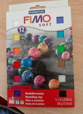 Staedtler 8023 01 Fimo SOFT Colour Pack 12x25g 12 Farben,