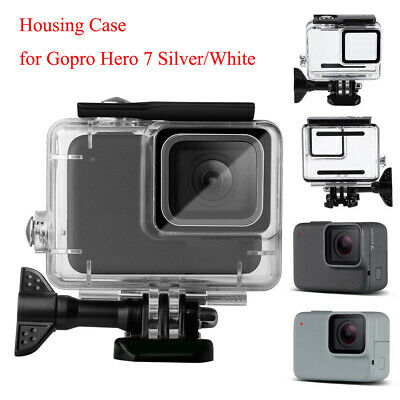 For GoPro Hero7 White/Silver 30m Waterproof Case Diving Protective Housing Shell