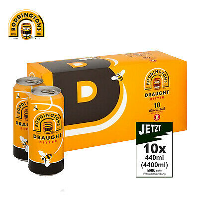 Boddingtons Draught Bitter 3.8% Vol, 10x 440ml (4400ml) - Bier, Ale