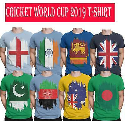 Cricket Wold Cup Mens T-Shirt  Teams Flags 2019 Tee's