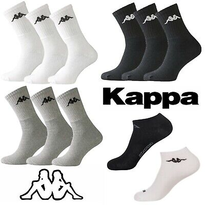 🔥🔥 Men's Kappa Sports & Trainer Socks 3 Pair Packs White Black Grey SALE 🔥🔥