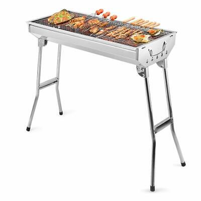 Barbecue à Charbon de Bois Pliable Grille Portable BBQ Table Inoxydable Camping
