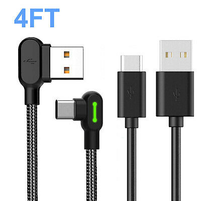 4FT USB-C Type C FAST Charging Sync Charger Cable For Samsung Galaxy S10 Note 9