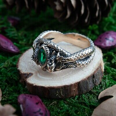 handmade Ranger of the North ring, Ring of Barahir, Lotr ring