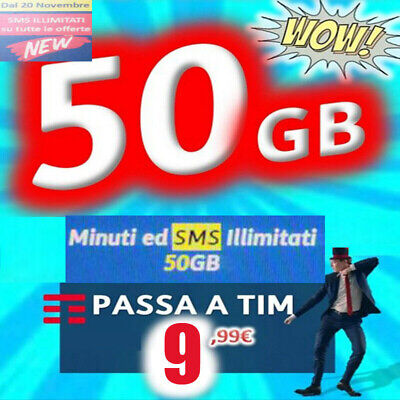Coupon Passa a TIM con minuti illimitati e 50 giga a 9,99 € da WIND-TRE