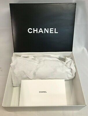 72c8f780fdd3a0 CHANEL EMPTY PURSE Box Ribbon Tissue Paper Bag Receipt Holder 14.5