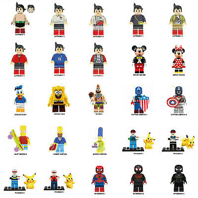 Sponge Bob Astroboy Spiderman Simpson Mickey Pokemon Lego Minifigure Mini figure