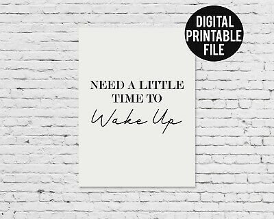 Oasis Lyric Print Whats The Story Need a Little Time to Wake Up Printable Art