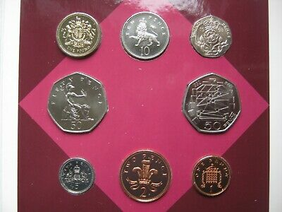 UK British 1993 BUNC Coin Collection Set: Penny - £1 with 92/93 EEC 50 Pence