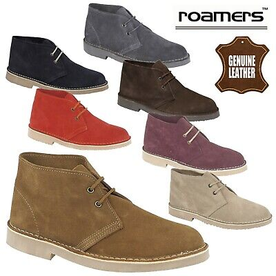 Roamers Unisex Real Suede Leather Desert Boots Men's & Women's UK Sizes 3-15