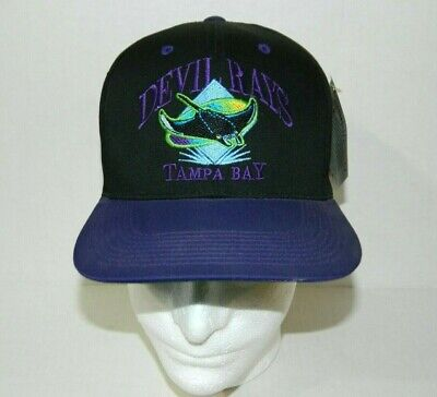 best service e4b3e 2290b Vintage 90s Tampa Bay Devil Rays Snapback Spell Out baseball Hat Cap New w  Tag