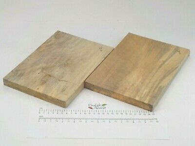 2 Stained Inglés Lima Linden Basswood Madera Boards. 170 X 235 X 20Mm. 3278