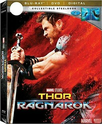 Thor: Ragnarok Blu-ray SteelBook Includes DVD + Digital Best Buy USA - Rare