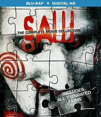 Saw Complete 1 2 3 4 5 6 7 Movie Film Collection Blu-ray UK New UNRATED EDITION