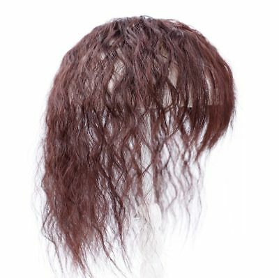 100% Human Hair Curly Wavy Topper Toupee Clip Hairpiece Top Wigs For Women Men