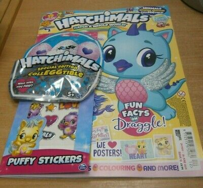 Hatchimals magazine #12 2019 + Special Edition CollEGGtible & Puffy Stickers
