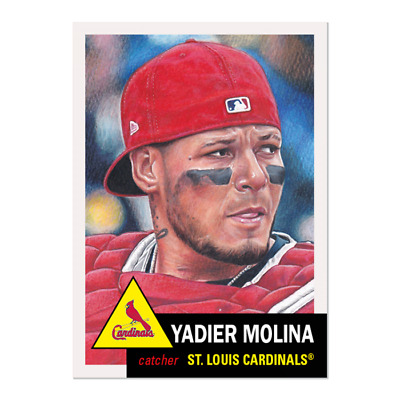 2019 Topps Living Set 250 Yadier Molina St Louis Cardinals 1953 Style