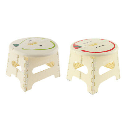 2pcs Stable Folding Step Stool Kitchen Foldable Stepping Stool Beige-S/L