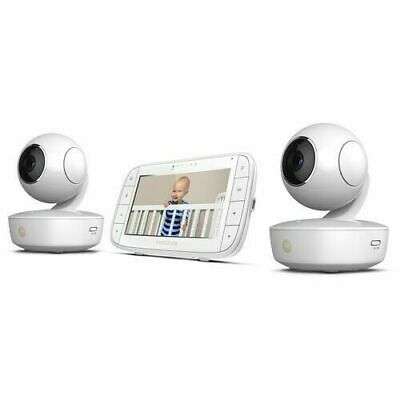 """Motorola 5"""" Portable Video Baby Monitor with Two Cameras - White (MBP36XL-2)"""