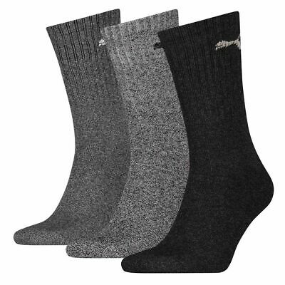 Puma NEW Men's Sports 3 Pack Socks - Anthracite / Grey BNWT