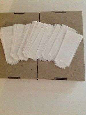 2 boxes 25 mm Vellum Glassines Stamp  Waxed Moisture Resistant  Bags White 1200