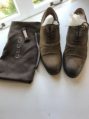 c6293544e gucci mens Lace Up Dress shoes size 7 Authentic Camden Oxford Brown Suede