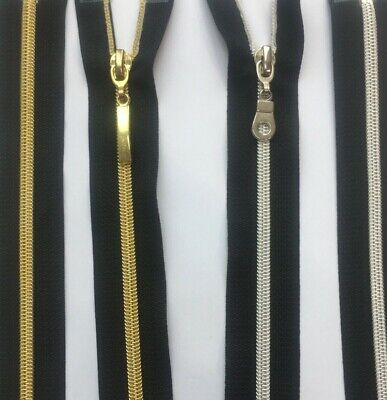 Closed End Nylon Black Silver And Gold Zip Free Postage Buy 3 Get 1 Free