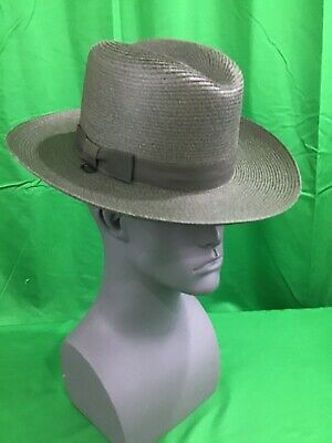 2c4eec21 NEW Stratton F42DB Conservation Green Straw Police Sheriff Hat Size 6 1/2