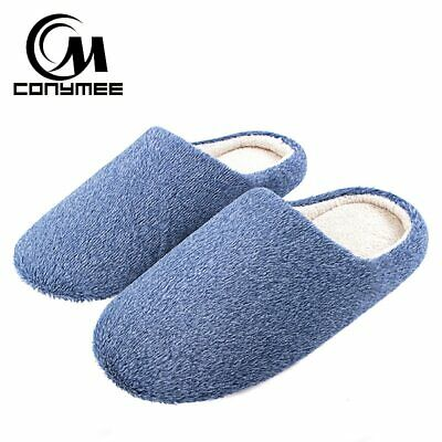 Conymee Soft Plush Home Slippers Men Indoor Cotton Shoes Big Size Winter Casual1