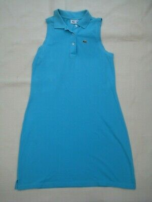bb8d18367c Lacoste Turquoise Blue Polo Shirt Tennis Dress - Size 44 / 12 UK - Made in