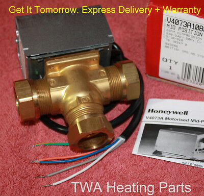 NEXT DAY DELIVERY  V4073 28mm Honeywell Y Plan  3 Port Mid Position Valve