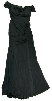 8d0e31708 Emerald Sundae Juniors Off the Shoulder High Slit Maxi Dress, Black, Medium