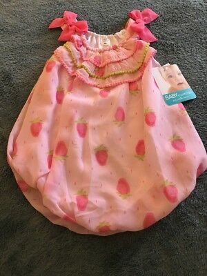 92da93915 Baby Essentials Girls Size 9 Months Sleeveless Bubble Romper