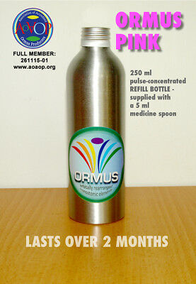ORMUS PINK: pulse-concentrated monoatomic supplement (250 ml) REFILL BOTTLE