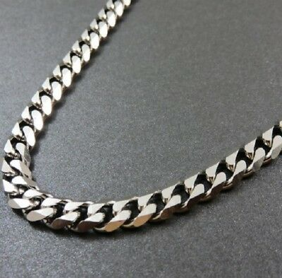 51cm Stainless Steel Necklace Silver Curb Link Cuban Chain 20 inch X 5mm N104 UK