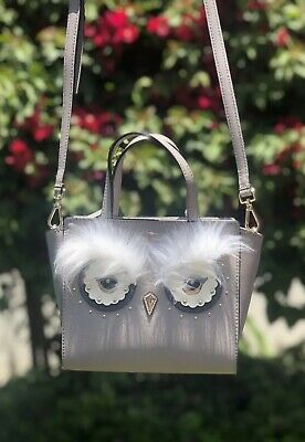 b7251bfb844dbb NWT Kate Spade City Scape Owl Mini Hadlee Star Bright Leather Satchel Grey  $329