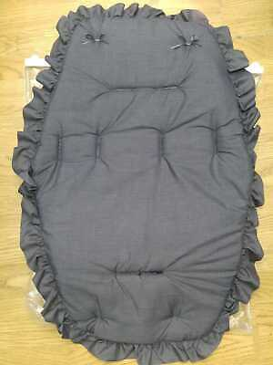 Beautiful  Pram    Universal Fit  Buggy Liner  Colour  Charcoal / Charcoal Bow