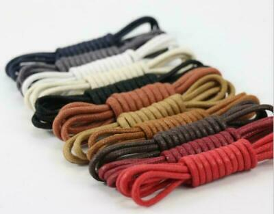 Waxed Laces Shoelaces Unisex Canvas Strings Dress Round Oxford Shoe Sneaker