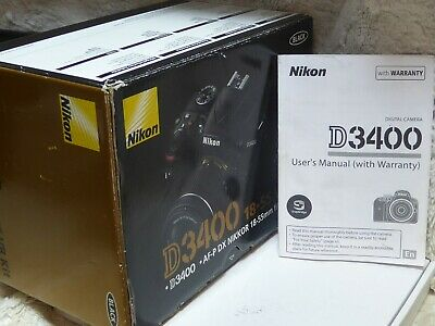 Nikon D3400 Camera (Body Only) Includes  low shutter count + box + charger.